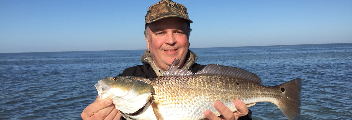 Troy with Texas Red Fish